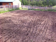 Farm land plowed