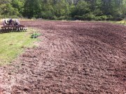 farm tilled ready for planting manure disc