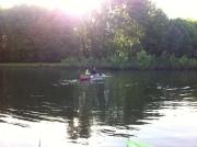 pond fun canoe
