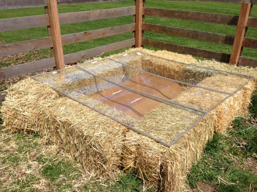 straw bale cold frame